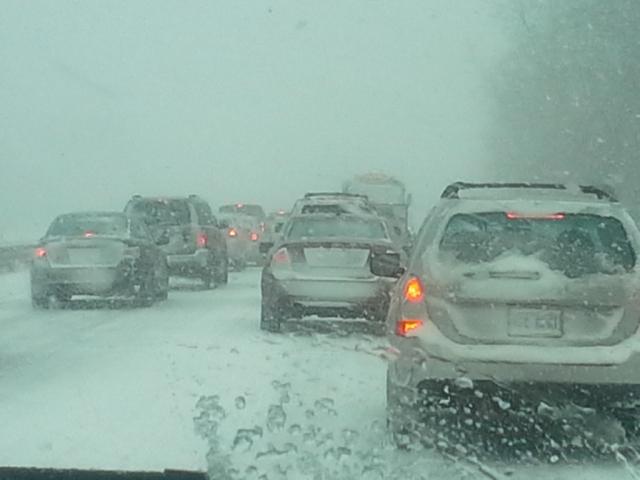 Traffic at a standstill.
